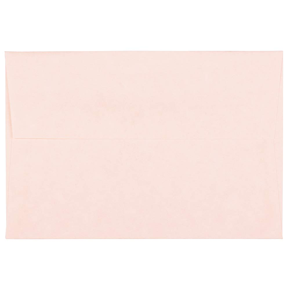 JAM PAPER 4Bar A1 Parchment Invitation Envelopes - 3 5/8 x 5 1/8 - Pink Recycled - 50/Pack