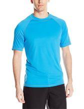 ZeroXposur Mens Short Sleeve UPF 50+Solid Dri Fit Rashguard