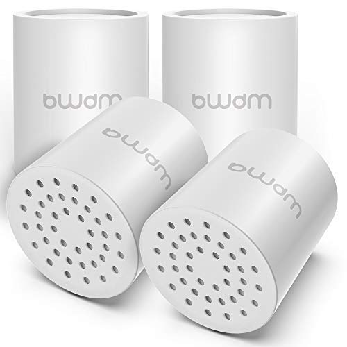 15 Stage Shower Filter Cartridge,High output Universal replacement filter cartridge, Remove Chlorine Heavy Metals and Other Sediments, VitaminC Water Softener Reduces Dry Itchy Skin Dandruff (4X)