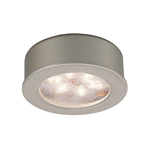 WAC Lighting HR-LED87-27-BN 3000K Soft White Round LED Button Light, Brushed Nickel