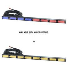 Abrams Focus 800 Series Dual Color (Red/Blue - Amber Override) 192W - 64 LED Police & EMS Vehicle Truck Traffic Advisor Strobe Warning Directional Light Bar