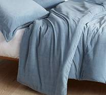 Byourbed Coma Inducer Queen Duvet Cover - Baby Bird - Smoke Blue