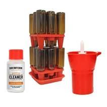 Brewferm Cleaning Kit includes: Brewferm Bottle Drainer; Brewferm Bottle Jet Washer; Brewferm OXI Cleaning Agent.