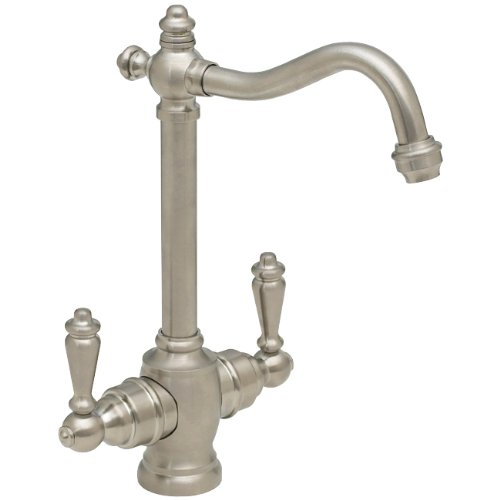 Westbrass D205-07 Victorian Traditional Two Handle Instant Hot/Cold Water Dispenser Faucet, Satin Nickel