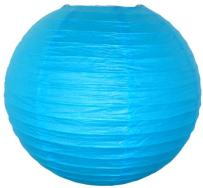 Just Artifacts 24-Inch Aquamarine Round Chinese Japanese Paper Lantern (1pc, Aquamarine)