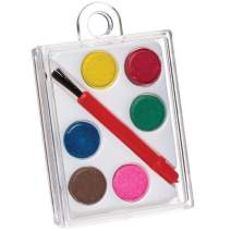 Baker Ross Mini Watercolor Paint Palette Set — Creative Art Supplies for Kids' Crafts, Projects and Decorations, Perfect Party, Loot or Prize Bag Filler (Pack of 5)