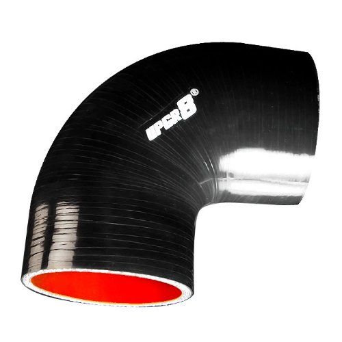 """Upgr8 Universal 4-Ply High Performance 90 Degree Elbow Coupler Silicone Hose (3.25""""(83MM), Black)"""