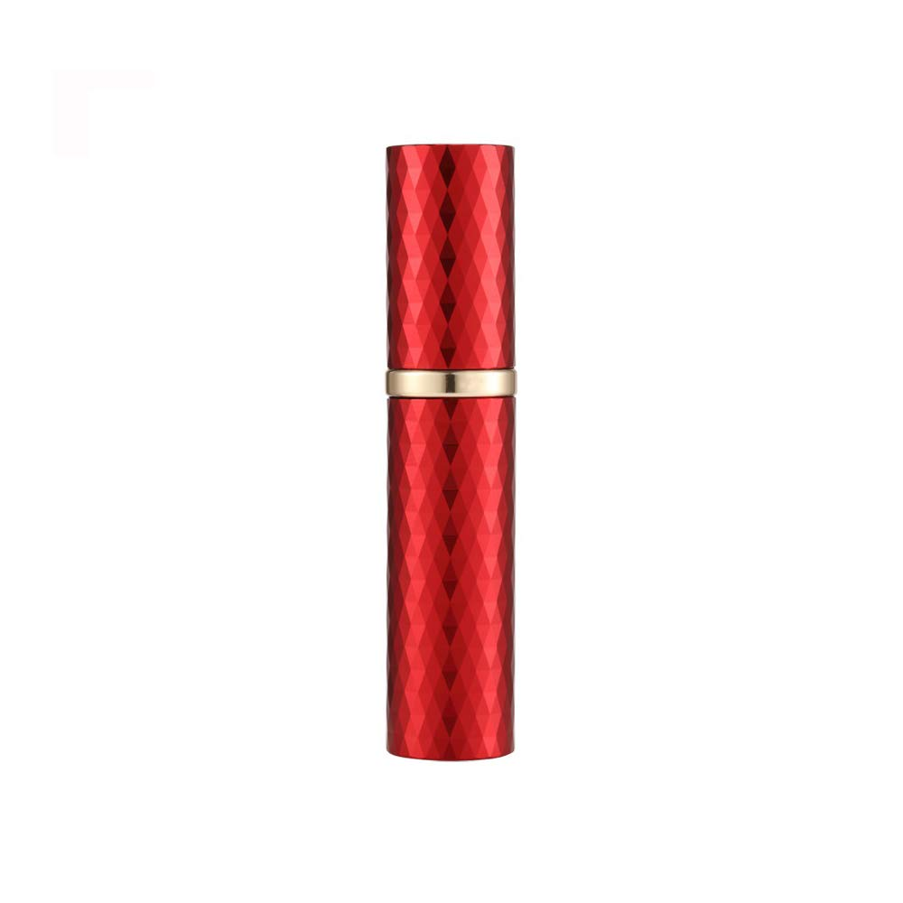 Yeejok Refillable Perfume Atomizer for Travel, TSA-Approved Portable Mini Empty Cologne Spray Pump Bottle with 5ml Pocket Size for Men and Women, Red