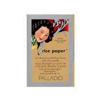 Palladio Rice Paper Tissues, Warm Beige, 40 Sheets, Face Blotting Sheets with Natural Rice Powder Absorbs Oil and Helps Skin Stay Looking Fresh and Smooth, Compact Size for Purse or Travel