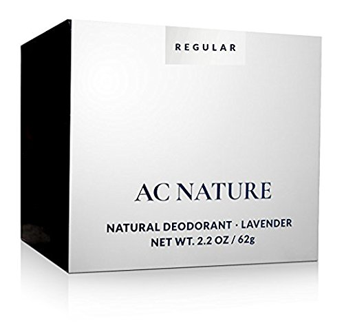 AC NATURE 100% Natural Lavender Deodorant Cream, Aluminum, Alcohol and Paraben Free, Scented with Organic Essential Oils for Women and Men, 2.2 oz.