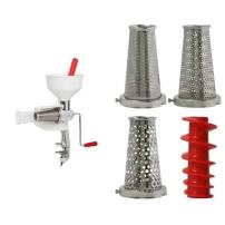 VICTORIO VKP250 Food Strainer and Sauce Maker and VICTORIO VKP250-5 Four-Piece Accessory Pack for VKP250 Food Strainer Bundle