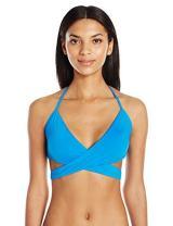 Laundry by Shelli Segal Women's Zahara Beaded Wrap Bikini Top