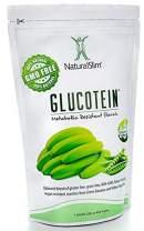 "NaturalSlim GLUCOTEIN ""Resistant Starch"" - Banana & Peas Non GMO Natural Fiber Powder - Gluten & Grain Free Vegan Flour Mix"