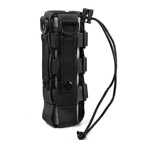 WICHEMI Water Bottle Pouch Minimalist Adjustable MOLLE Water Bottle Holder Kettle Pouch Belt Bottle Carrier Bag for 17-84 Oz Water Bottle
