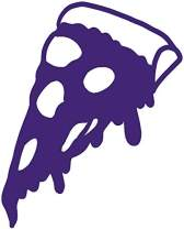 hBARSCI Pizza Vinyl Decal - 5 Inches - for Cars, Trucks, Windows, Laptops, Tablets, Outdoor-Grade 2.5mil Thick Vinyl - Purple