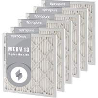 SpiroPure 12X24X1 MERV 13 Pleated Air Filters - Made in USA (6 Pack)