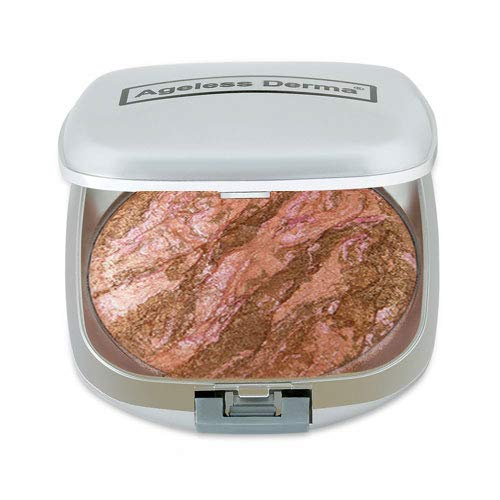 Ageless Derma Baked Mineral Makeup Healthy Blush (Peach Frost). Highlighter Makeup