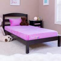 Perfect Cloud Kids Signature 7-inch Memory Foam Mattress and Pillow for Day/Trundle/Bunk Bed (Pink) - Memory Foam Teddy Bear Included