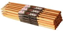 On Stage 5A Hickory Drum Sticks - (12 Pack) (Nylon Tip)