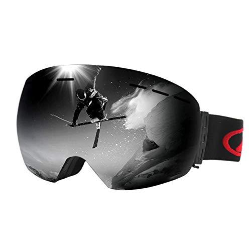 COPACHI Ski Goggles, Anti-Fog Over Glasses 100% UV Protection Snow Goggles Windproof Helmet Compatible Dual Lens Goggle for Men Women