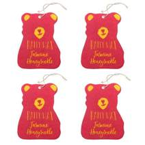 Happy Wax Jasmine Honeysuckle Scented Hanging Car Cub Air Freshener - Cute Car Freshener Infused with Natural Essential Oils! (4-Pack)