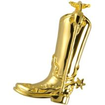 Memorial Gallery 3312gp Cowboy Boot 14K Gold/Sterling Silver Plating Cremation Pet Jewelry