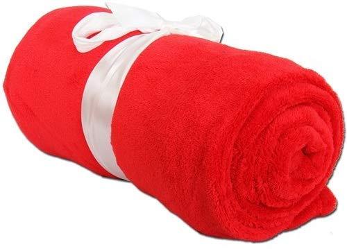 "Threadart Super Soft Ultra Plush Fleece Throw Blankets 50""x60"" | Fuzzy Soft Cozy Microfiber | Red | 11 Colors Available"