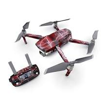 Apocalypse Red Decal Kit for DJI Mavic 2 Drone - Includes 1 x Drone/Battery Skin + Controller Skin