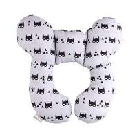 Baby Travel Pillow, KAKIBLIN Infant Head and Neck Support Baby Neck Pillow for Car Seat, Pushchair, for 0-1 Years Old Baby, Grey