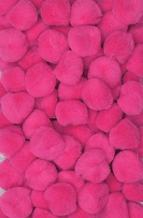 Creativity Street Pom Pons 100-Piece x 1/2 Inch, Hot Pink