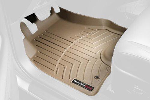 WeatherTech Custom Fit Front FloorLiner for BMW 7-Series (F01, F02) 750i/LI, Tan
