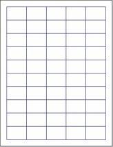 "Laser/Ink Jet White Labels (1-1/2"" x 1"" - 50 Per Page | 2,500 Labels)"