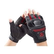 SCOYCO Ventilate Knuckle Reinforced Wear Resistant Half Finger Riding Gloves