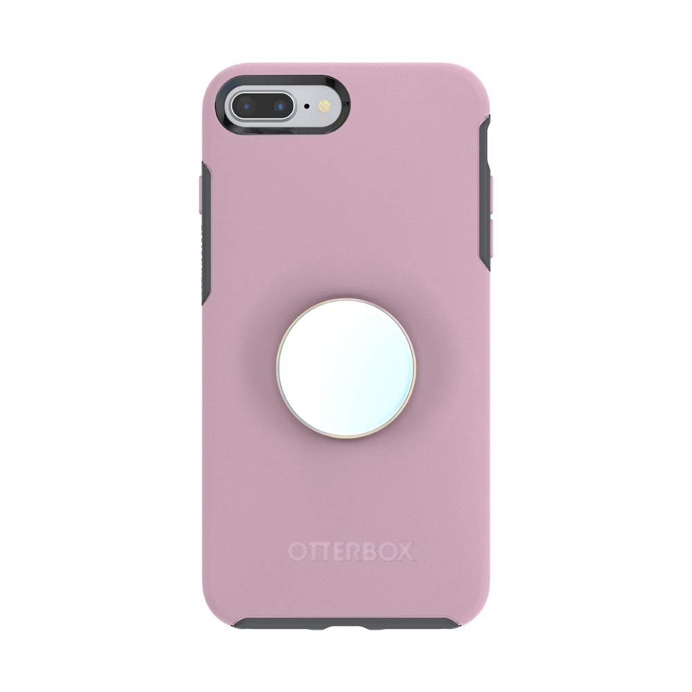 Otter + Pop for iPhone 7+ and 8+: OtterBox Symmetry Series Case with PopSockets Swappable PopTop - Mauvelous and Color Chrome Mermaid White