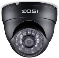 ZOSI 2.0 Megapixel HD 1080P 4-in-1 TVI/CVI/AHD/CVBS CCTV Camera Home Security Day/Night Camera, 65ft IR Distance, Compatible for HD-TVI, AHD, CVI, and CVBS/960H Analog DVR (Renewed)