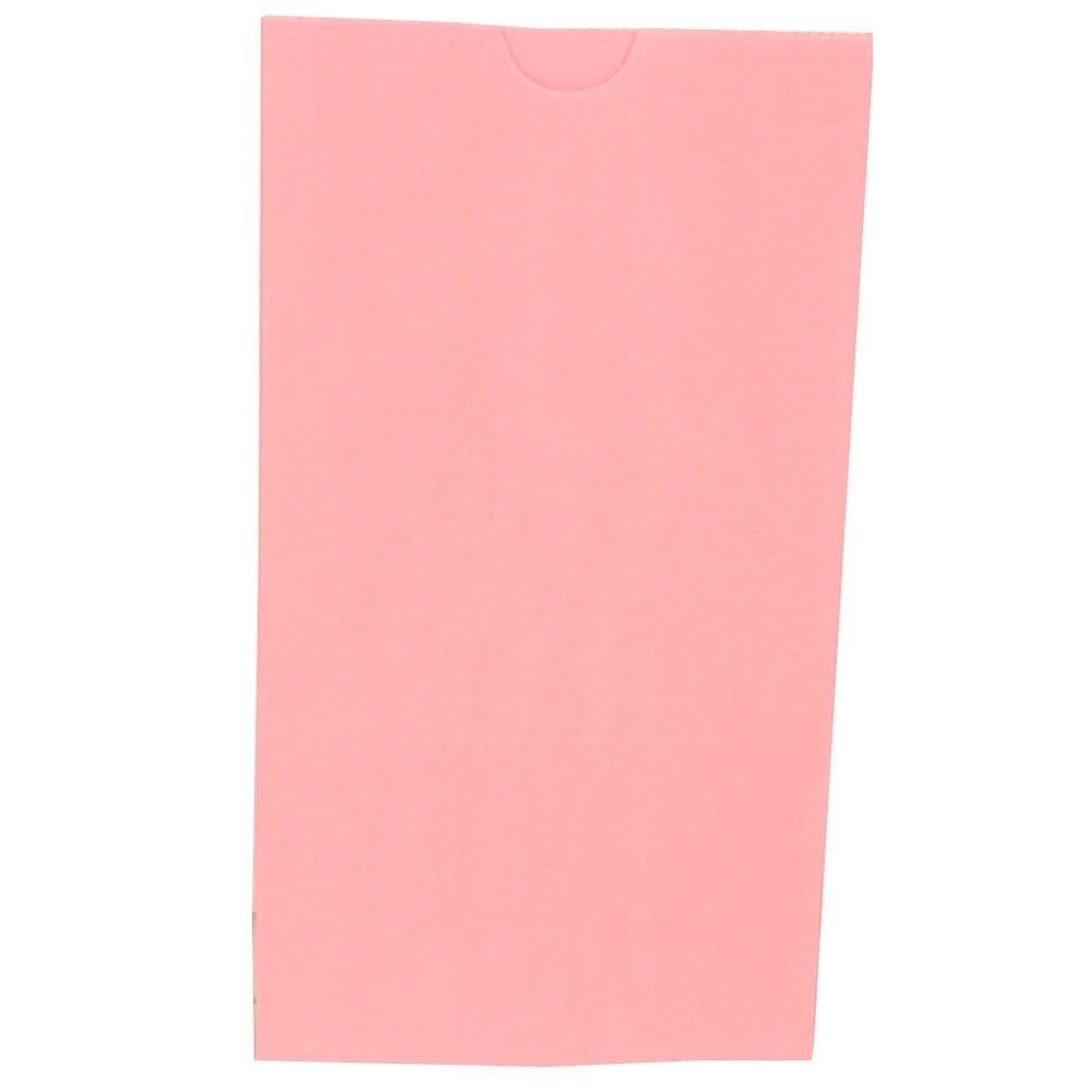 JAM PAPER Kraft Lunch Bags -Small - 4 1/8 x 8 x 2 1/4 - Baby Pink Pastel - Bulk 500 Bags/Box