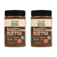 Beyond the Equator 5 Seed Butter Chocolate- Peanut Free, Tree Nut Free, Sunflower Seed, Chia Seed, Flaxseed, Pumpkin Seed, Hemp Hearts, Low Carb, Keto, Non-GMO, 2 Pack, 32 Ounces