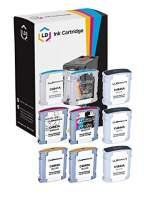 LD Remanufactured Ink Cartridge Replacement for HP 10 High Yield (3 Black, 2 Cyan, 2 Magenta, 2 Yellow, 9-Pack)