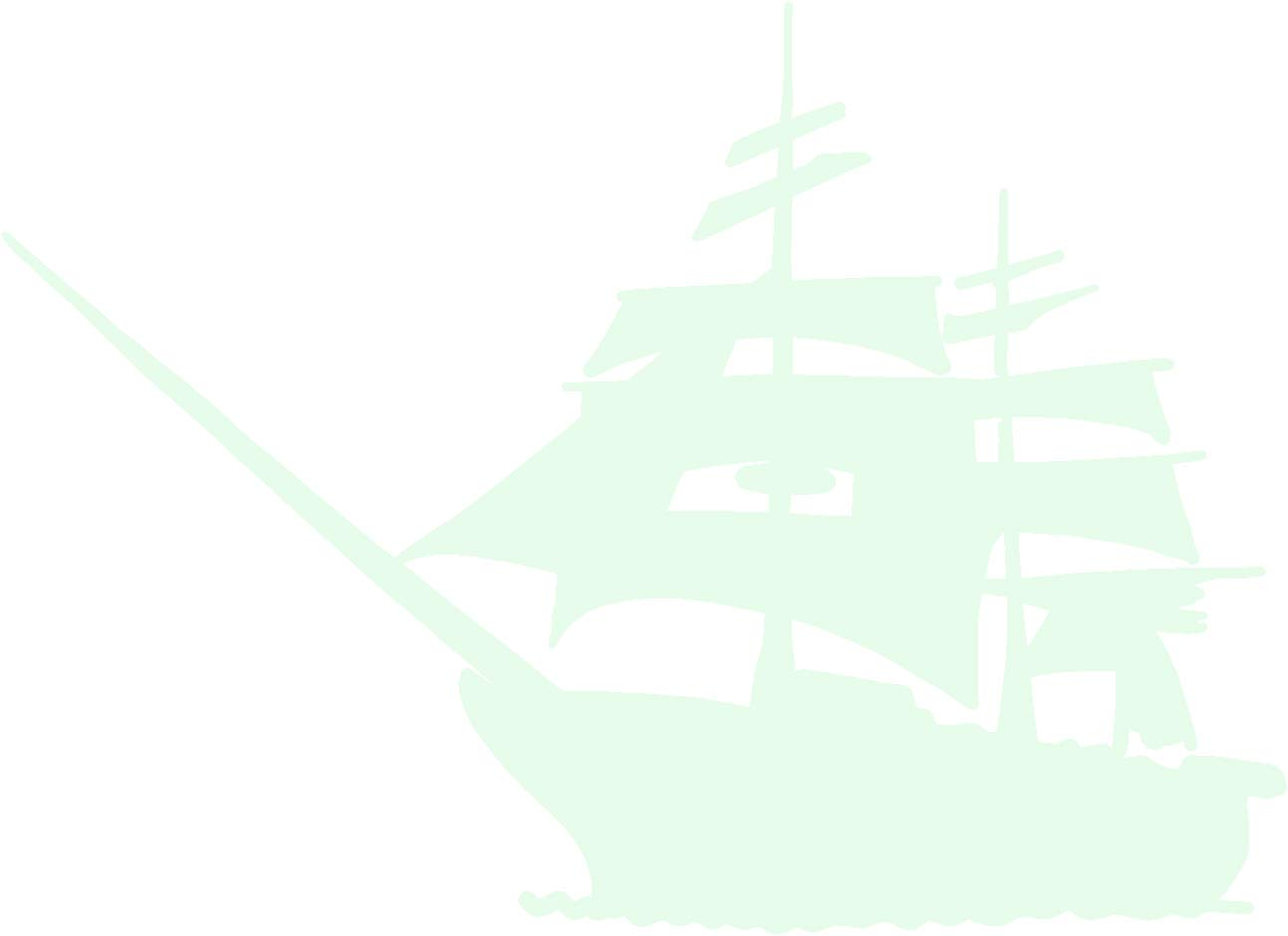 hBARSCI Battle Sail Ship Vinyl Decal - 5 Inches - for Cars, Trucks, Windows, Laptops, Tablets, Outdoor-Grade 6mil Thick Vinyl - Glow in The Dark