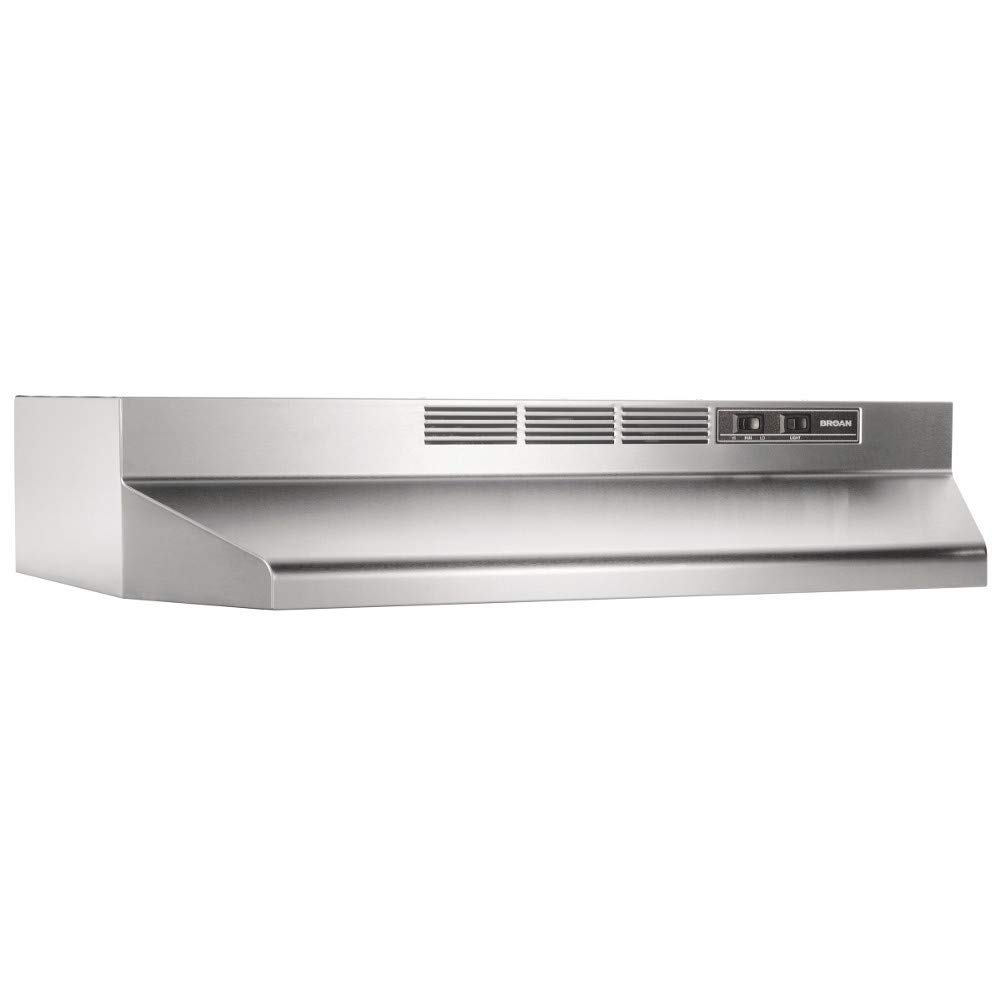 Broan-NuTone BUEZ130SS Ductless Under-Cabinet Easy Install System, Stainless Steel, 30-Inch Range Hoods