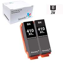 Sirensky Remanufactured 410XL T410XL Ink Cartridge Upgraded (Newest Chip) Black 2 Pack to use with Expression XP-640 XP-830 XP-7100 XP-530 XP-630 XP-635