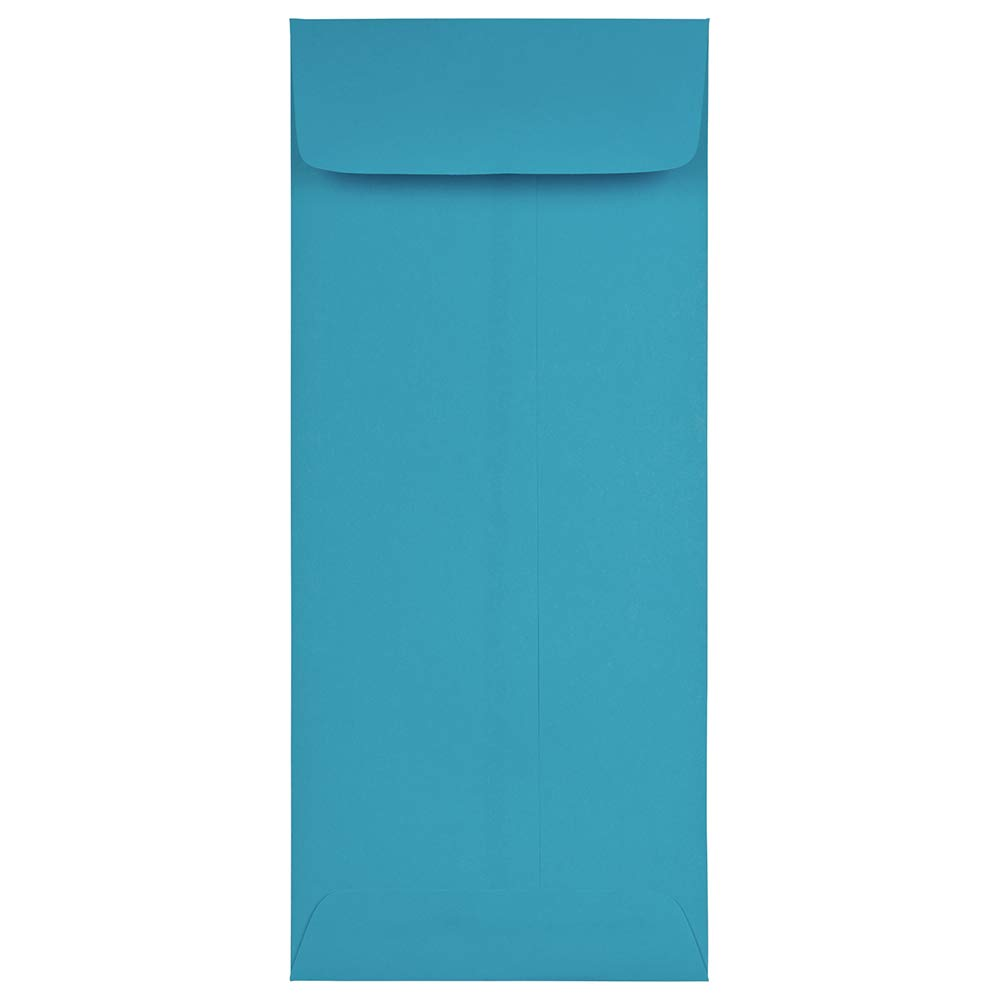 JAM PAPER #11 Policy Colored Envelopes - 4 1/2 x 10 3/8 - Blue Recycled - 50/Pack