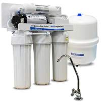 Home RO Drinking Water Filter with Boost Pump | Under the Counter (Under Sink) | 5-Stage Reverse Osmosis Water Filter System | AMI WaterAnywhere | With Designer Faucet (100 GPD RO with Booster Pump)