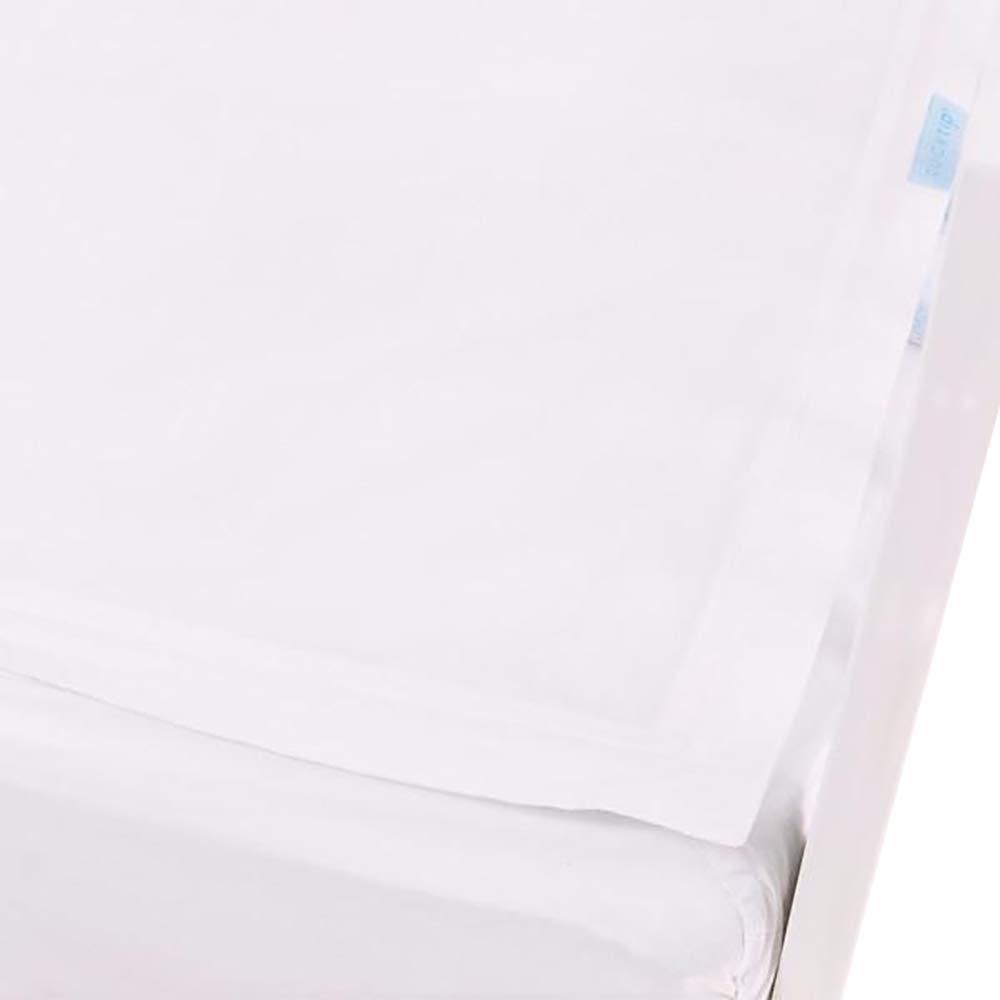 QuickZip Crib Sheet Set - Faster, Safer, Easier Baby Crib Sheets - Includes 1 Wraparound Base & 1 Zip-On Crib Sheet - White 100% Cotton - Fits All Standard Crib Mattresses