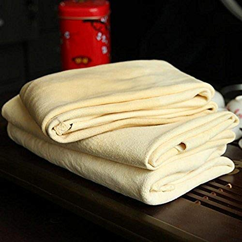 Trainshow Cleaning Chamois Shammy for Car, Natural Deerskin Leather Drying Cleaning Towel for Auto and Precision Instrument 20''X31.5'' (2-Pack)