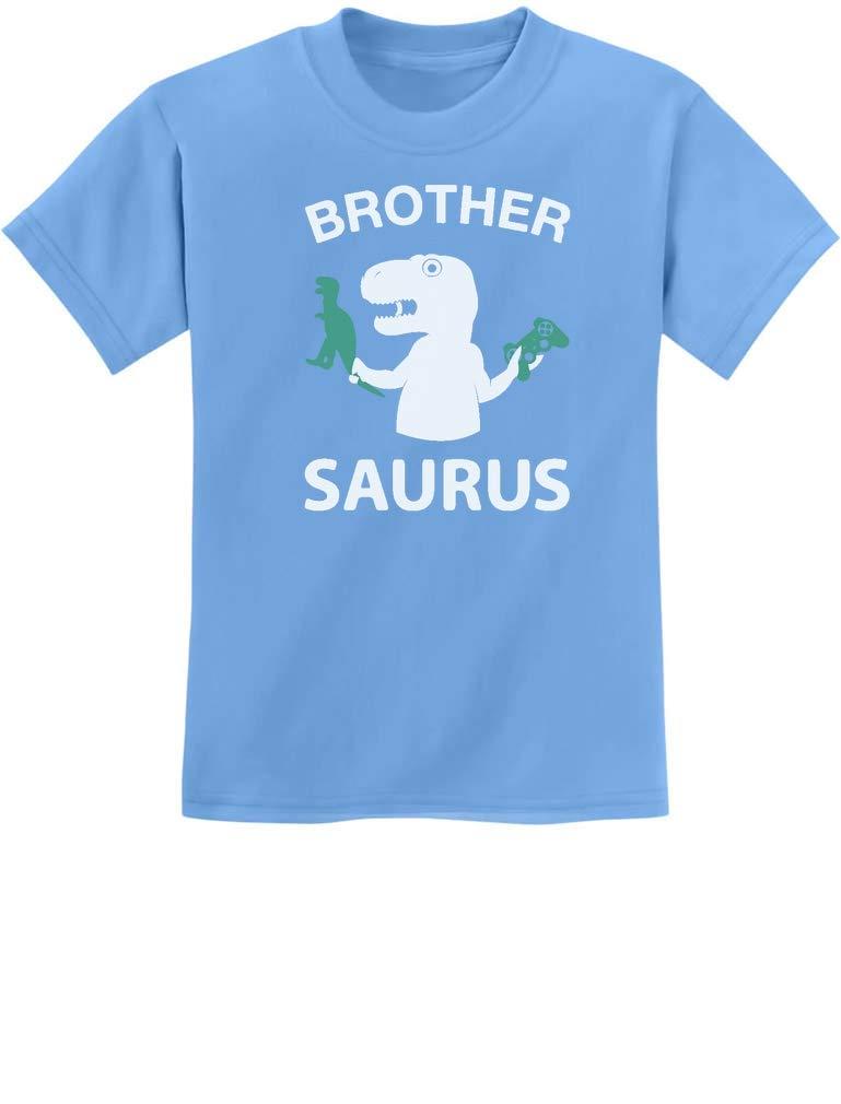 Brother Saurus Shirt Cute Boy T-Rex Gift for Big Brother Kids T-Shirt