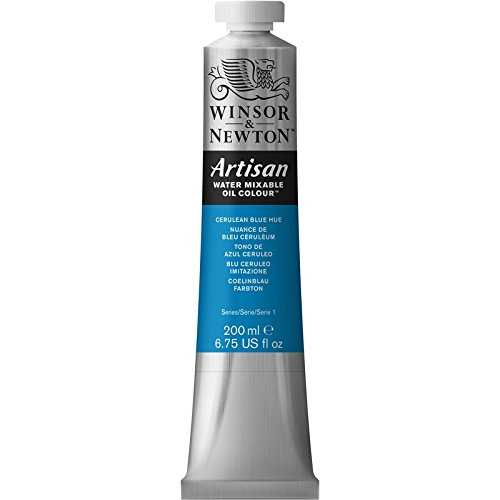 Winsor & Newton Artisan Water Mixable Oil Colour Paint, 200ml Tube, Cerulean Blue Hue