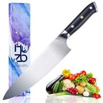 Abzuui Professional 8 inch Chef Knife German Stainless Steel Kitchen Knife in Gift Box  chef's knife Sharp Blade, cooking knife high Carbon, Slicing knife For Pro & Home chefs