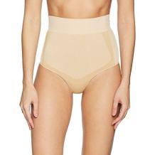 Amazon Brand - Arabella Women's Shine and Matte Seamless High Waist Shapewear Thong