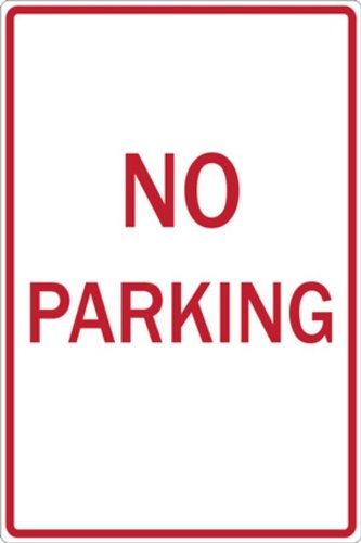 ZING 2273 Eco Parking Sign, No Parking, 18Hx12W, Engineer Grade Prismatic, Recycled Aluminum
